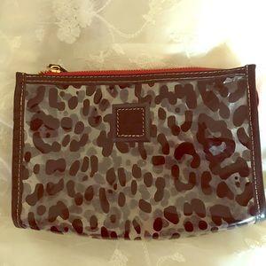 Dooney and Bourke clear leopard makeup bag